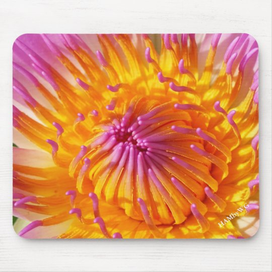 HAMbyWG - Mouse Pad - Pink & Yellow Flower