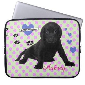 HAMbyWG - Neoprene Laptop Sleeve - w Pup & Polka