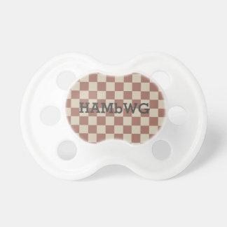 HAMbyWG - Pacifier - Antique Reddish/Beige Gingham