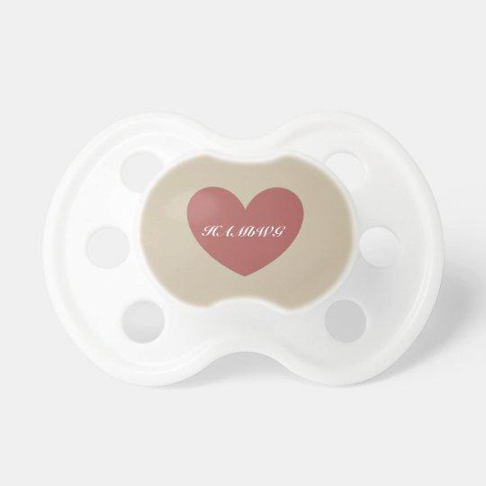 HAMbyWG - Pacifier - Little Rose Heart on Beige