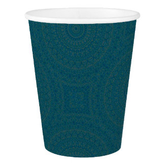 HAMbyWG - Paper Cup, 9 oz - Bohemian Teal Paper Cup