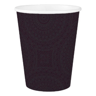 HAMbyWG - Paper Cup, 9 oz - Boho Dark Cherry Paper Cup