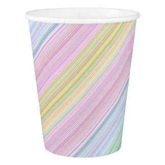 HAMbyWG - Paper Cup, 9 oz - Multicolor Lines Paper Cup