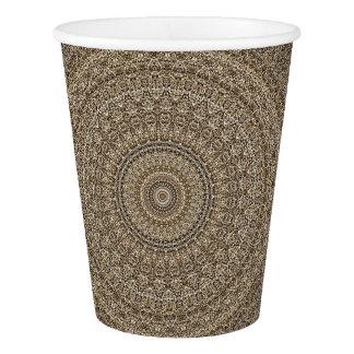 HAMbyWG - Paper Cup, 9 oz -Tan Mandala Paper Cup
