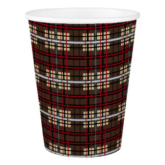 HAMbyWG - Paper Cup - Br/Blk/R/Bg Graph