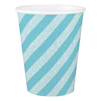 HAMbyWG - Paper Cup -  Light Aqua Blue Stripe