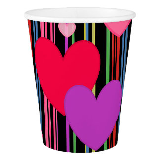 HAMbyWG - Paper Cup -  Multi-Colored Hearts
