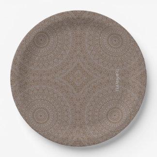 """HAMbyWG - Paper Plate 7 or 9"""" - Boho Beige"""