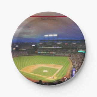 HAMbyWG - Paper Plate - Baseball Stadium 7 Inch Paper Plate