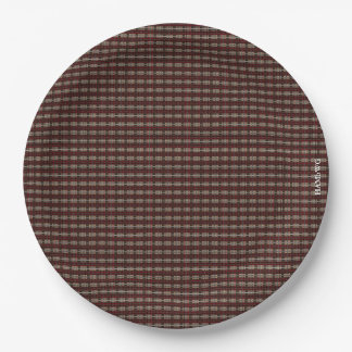 """HAMbyWG - Paper Plates 9"""" - Tiny Plaid Graphic"""