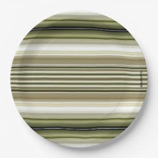 "HAMbyWG - Paper Plates 9"" - White Rose Stripe"