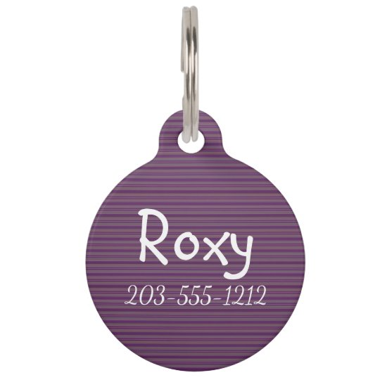 HAMbyWG - Pet Name Tag - Plum