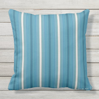 HAMbyWG - Pillow - Aquamarine Stripes
