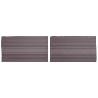 HAMbyWG -Pillowcases -Grey/Blk/Bl/Y/Mar Stripe Pillowcase