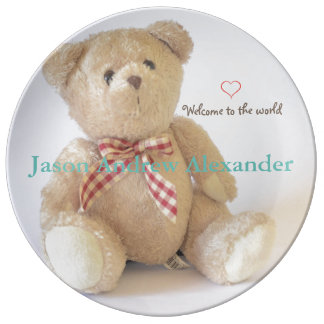 HAMbyWG Porcelain Plate - Teddy Bear