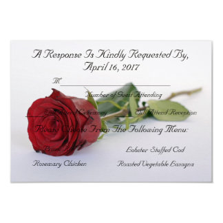 "HAMbyWG- Response/Envelope ""Red Rose of Love"" Card"