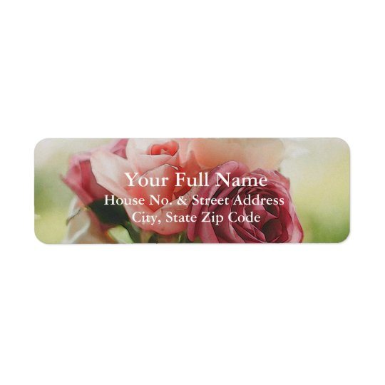 HAMbyWG - Return Address Label - Watercolor Roses