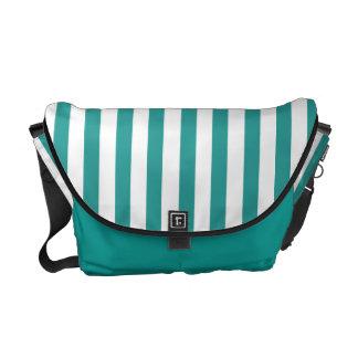 HAMbyWG Rickshaw Messenger Bag Turquoise & White