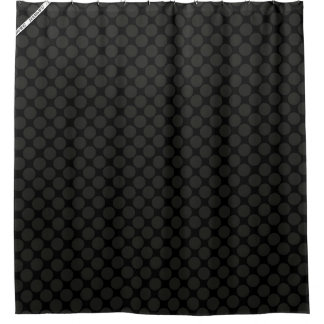 HAMbyWG - Shower Curtain - Black Polka Dots