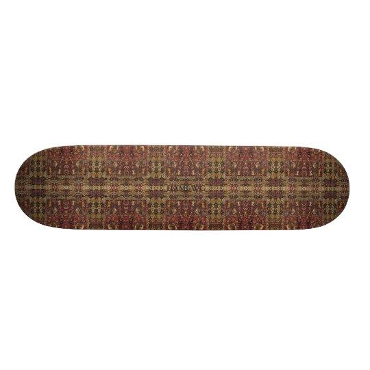 HAMbyWG - Skateboard - Burgundy Grey Black Persian