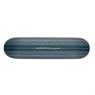 HAMbyWG - Skateboard - Teal Stripes