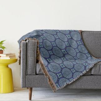HAMbyWG - Throw Blanket - Blue Mandalas