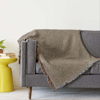 HAMbyWG - Throw Blanket  Modern - Tan Mandala