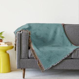HAMbyWG - Throw Blanket - Turquoise Mandala