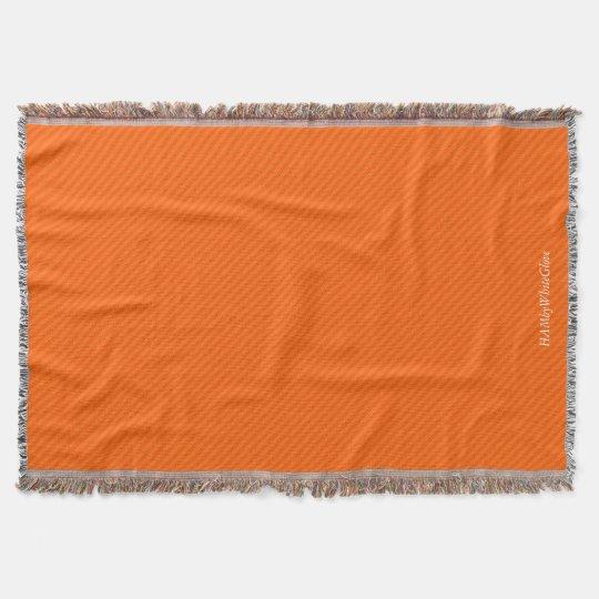 HAMbyWG - Throw Blanket - Two/Tone orange stripe