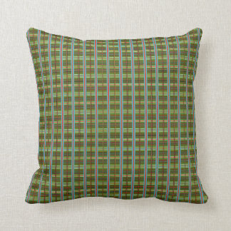 """HAMbyWG - Throw Pillow 16"""" - Olive w/ Red & Blue"""