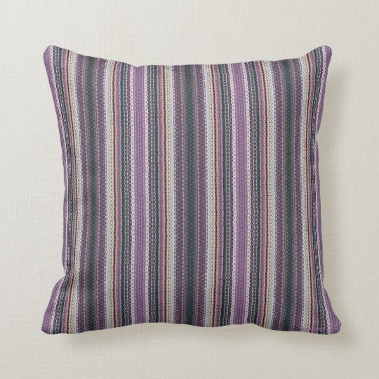 HAMbyWG - Throw Pillow Lavender Needlepoint Look