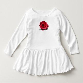 HAMbyWG - Toddler Ruffle Dress - Red Rose Logo