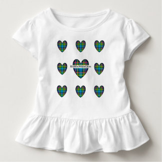 HAMbyWG Toddler Ruffle Tee -Plaid Heart w/Logo