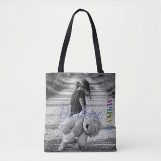 HAMbyWG - Tote - Little Girl, Giant Teddy!