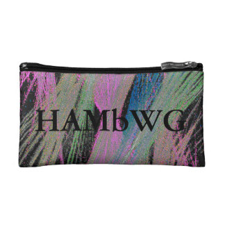 HAMbyWG - Travel Bags - Colored Lines on Black Cosmetics Bags