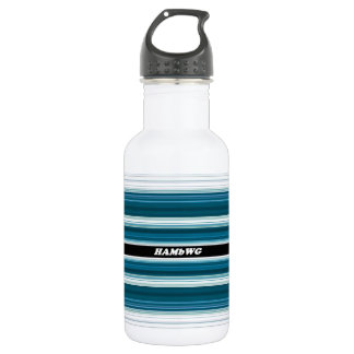 HAMbyWG - Water Bottle - Aqua & White