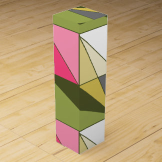 HAMbyWG - Wine Gift Box - Olive/Pink Abstract