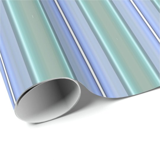 HAMbyWG - Wrapping Paper - Light Blue Mint Stripe
