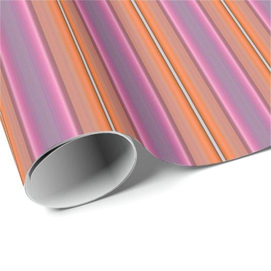 HAMbyWG - Wrapping Paper - Orange & Pink Stripe