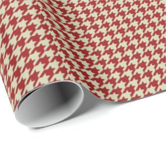 HAMbyWG Wrapping Paper - Red/Beige Houndstooth