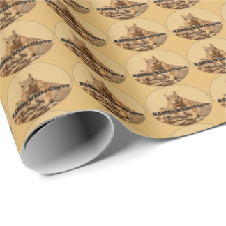 HAMbyWG Wrapping Paper - Squirrel Logo Tan