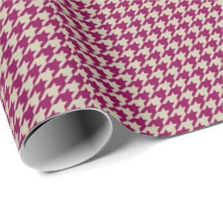 HAMbyWGWrapping Paper - Cherry Clay Houndstooth Wrapping Paper