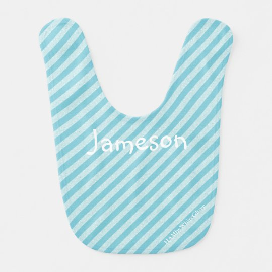 HAMbyWhiteGlove Baby Bibs - Light Blue Stripe