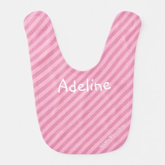 HAMbyWhiteGlove Baby Bibs - Light Pink Stripe