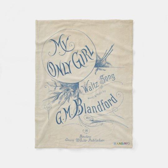 HAMbyWhiteGlove Fleece Blanket - My Only Girl