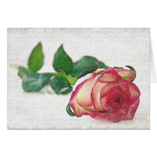 HAMbyWhiteGlove - Greeting Card - Single Rose