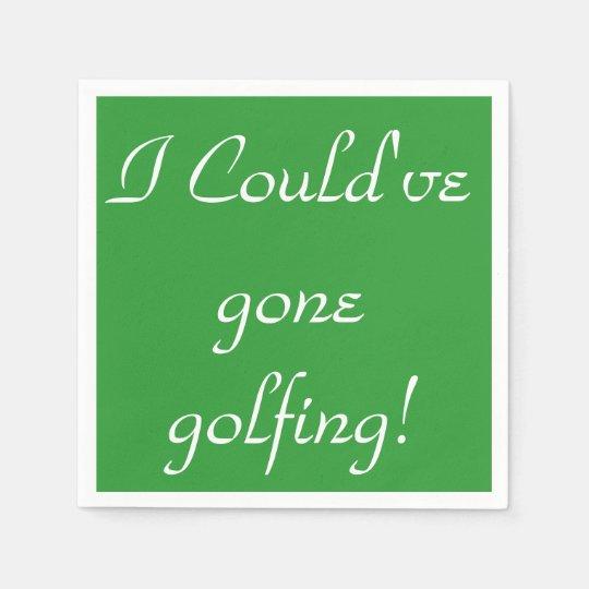 HAMbyWhiteGlove - Paper Napkin - Golfing