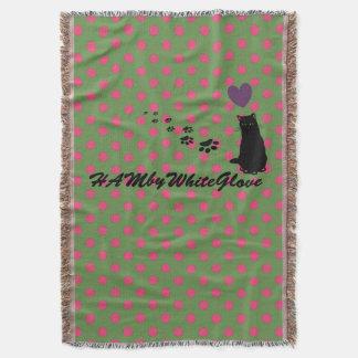 HAMbyWhiteGlove - Throw Blanket - Pink/Jade Polka