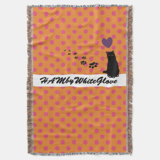 HAMbyWhiteGlove - Throw Blanket Pink Orange Polka