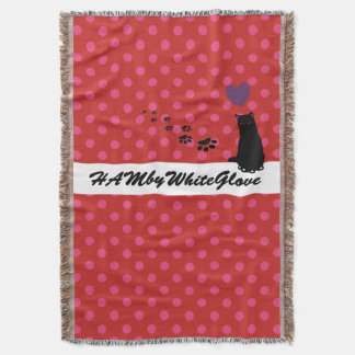 HAMbyWhiteGlove - Throw Blanket - Pink/Red Polka